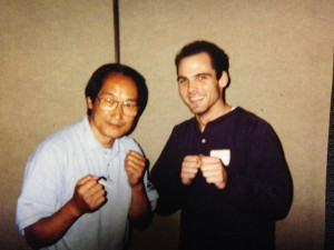 "Sifu Ted Wong and Sifu Eric Spiczka circa 1999 in Seattle WA at the ""Bruce Lee Educational Foundation Nucleus"" meeting"